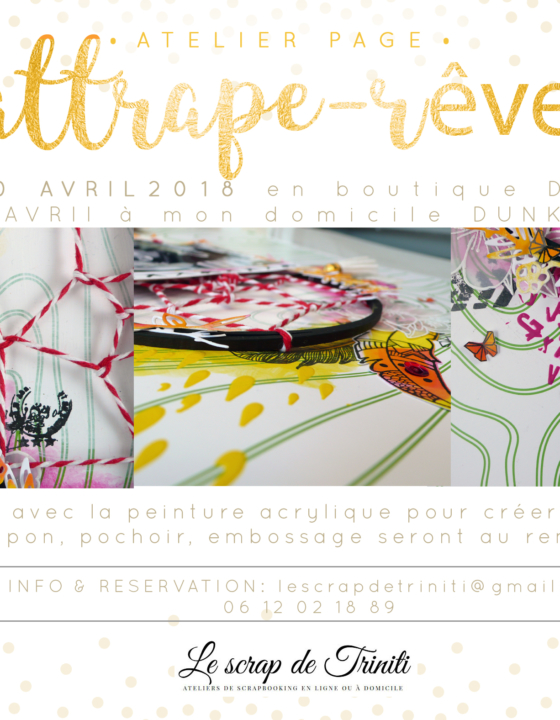 Atelier «Page Attrape-rêve» à Douai et Dunkerque (59)