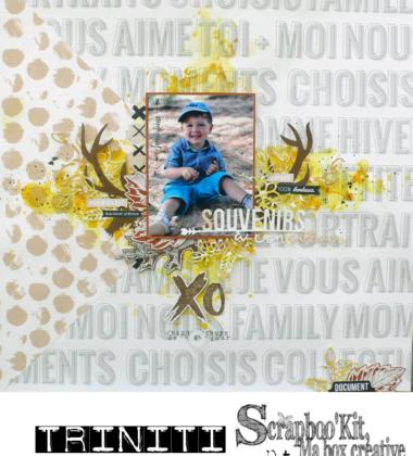 Un souvenir à conserver – DT Scrapboo'kit, ma box créative