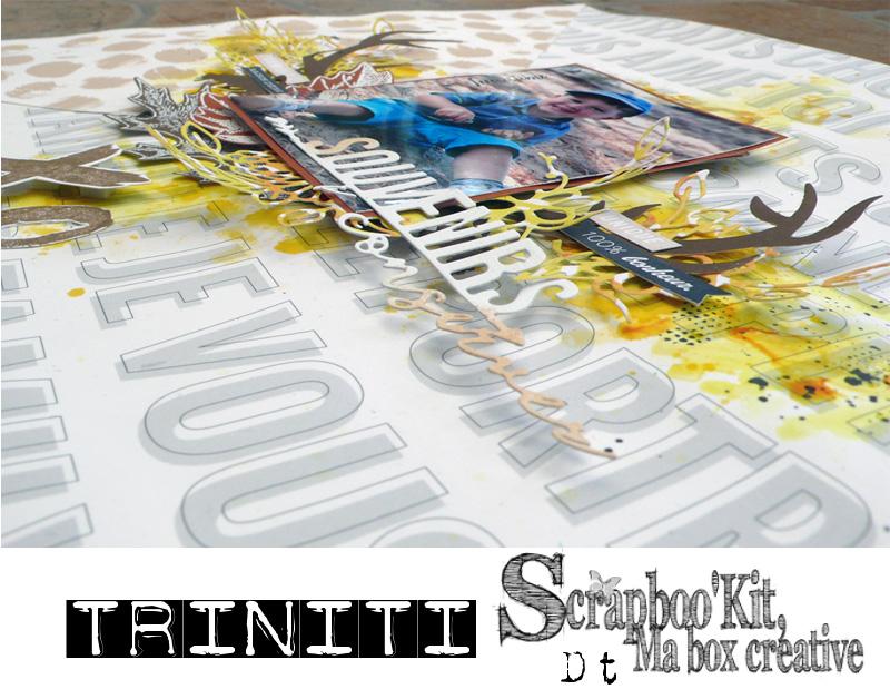 détail souvenir à conserver pour Scrapboo'kit avec la collection de papiers Les ateliers de Karine