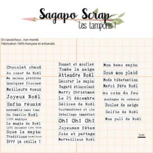 Etiquettes thème Noel tampons Sagapo Scrap