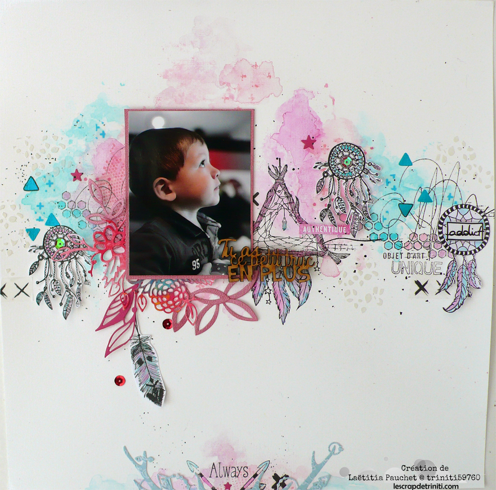 defi passion scrapbooking ethnique