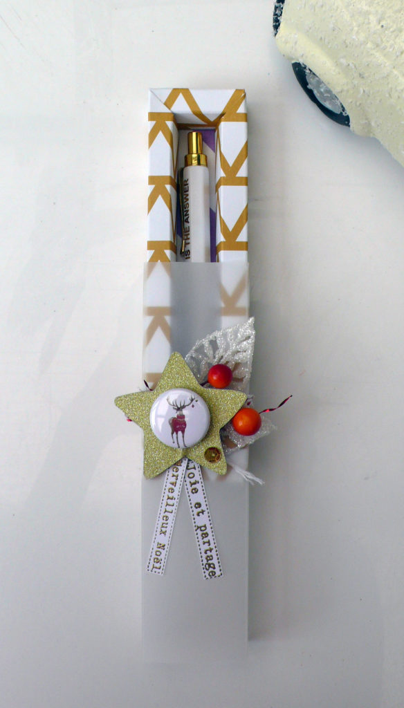 boite écrin à offrir avec un stylo pour noel