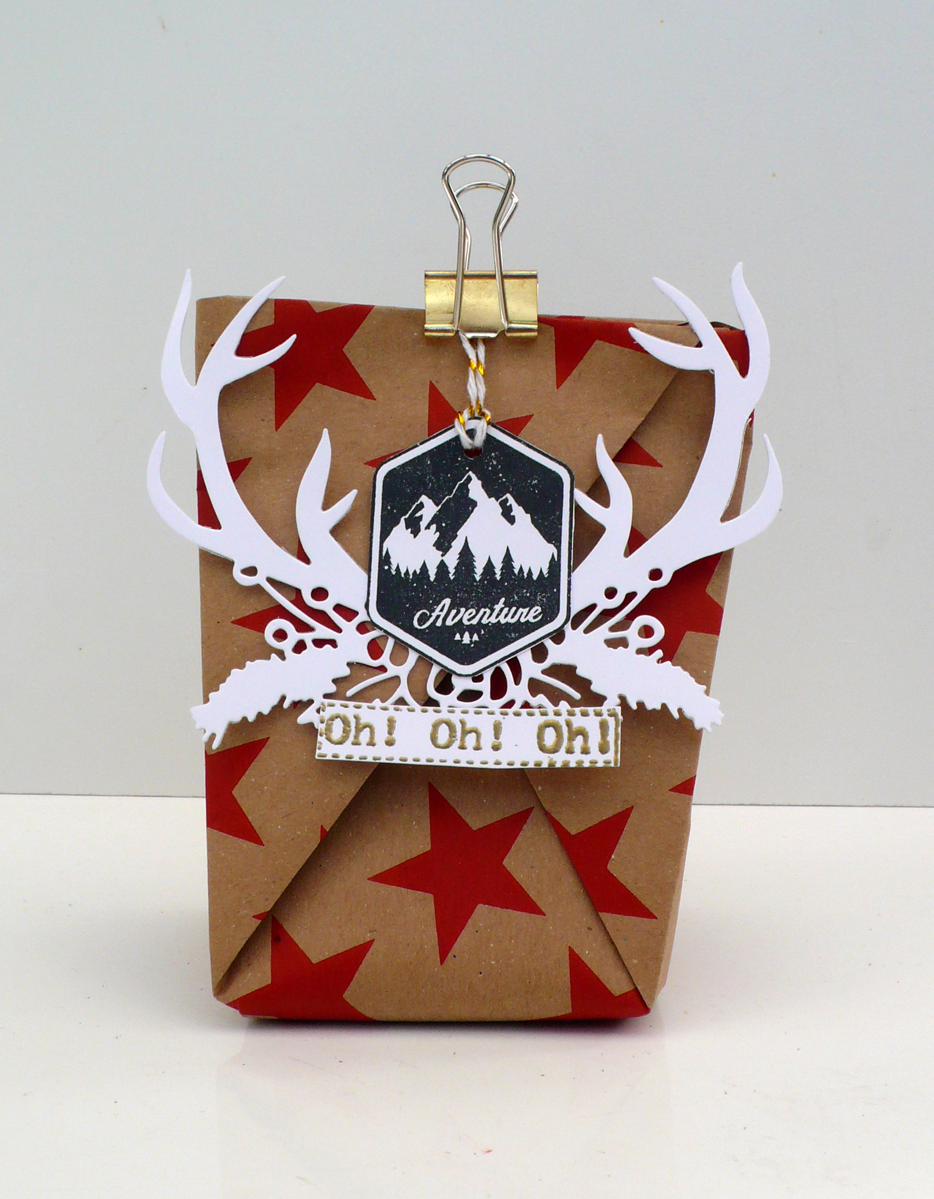 préparer noel emballage origami original 2