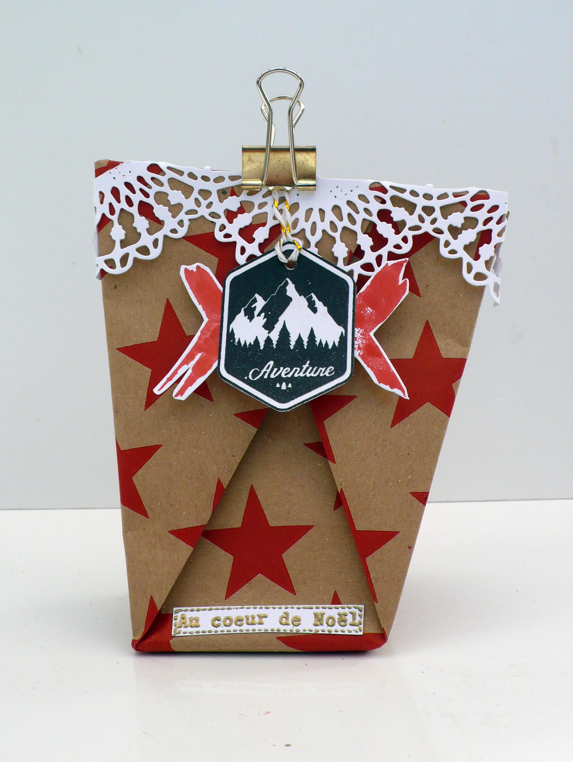 préparer noel emballage origami original