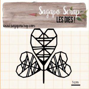 Feuille d'amour découpe die Sagap scrap
