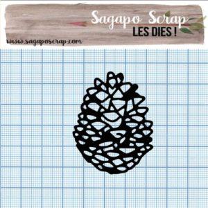 Pomme de pin découpe die Sagapo scrap