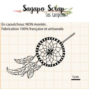 tampon attrape reve dreamcatcher sagapo scrap