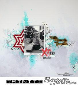 Page Petits moments en famille pour Scrapboo'kit à proposer en atelier