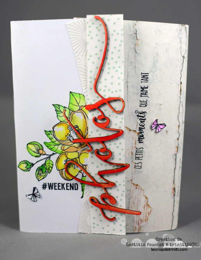 Mini album printanier – DT Scrapboo'kit, ma box créative
