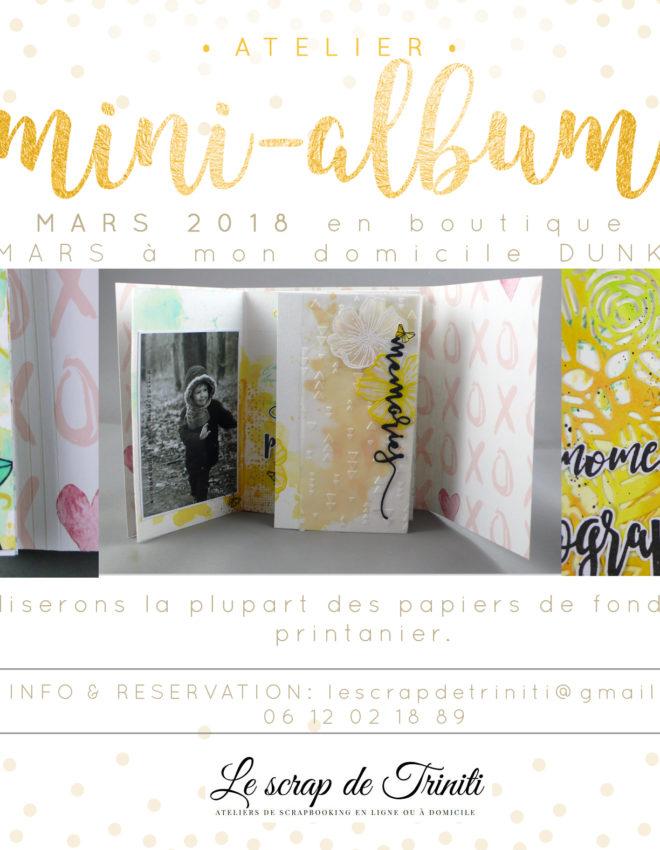 Atelier «Mini-album printanier» à Douai et Dunkerque (59)