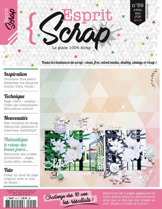 Coup de coeur Magazine Esprit scrap