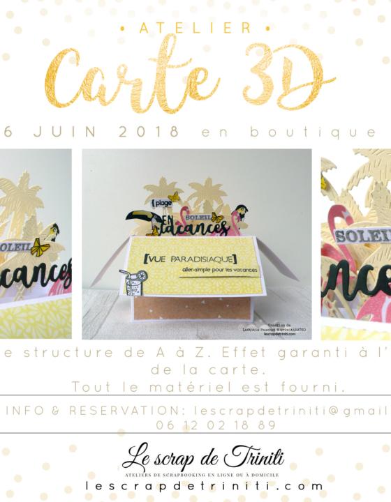 Atelier «Carte 3D» à Douai (59)