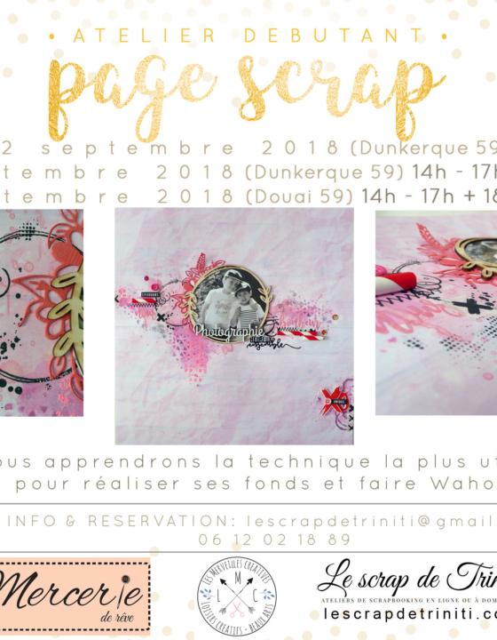Atelier «page de Scrap» à Douai et Dunkerque (59)