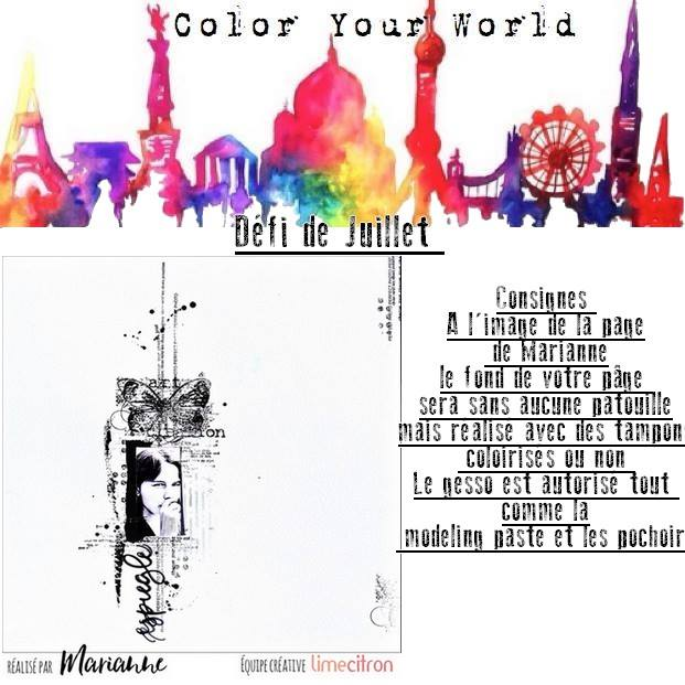 challenge juillet chez Color Your World