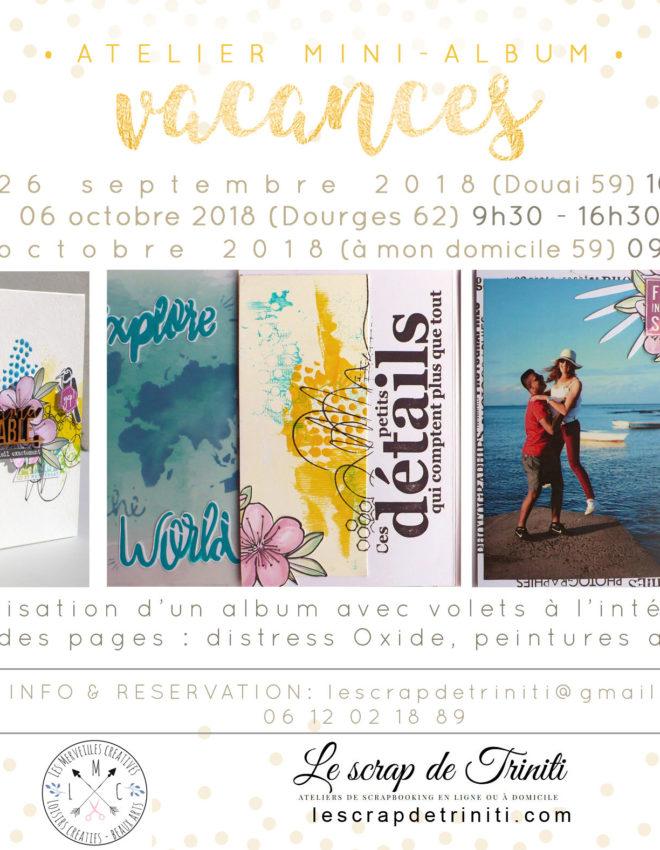 Atelier «Mini-album vacances» à Douai (59), Dourges (62) et Dunkerque (59)