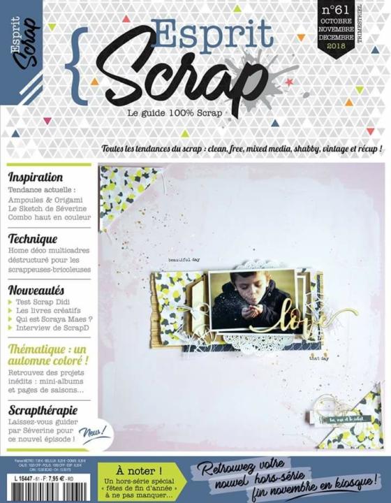 TUTO pour le magazine Esprit Scrap n°61
