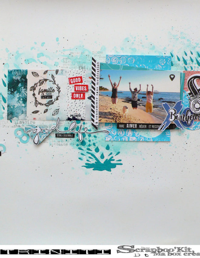 Good vibes only – DT Scrapboo'kit, ma box créative