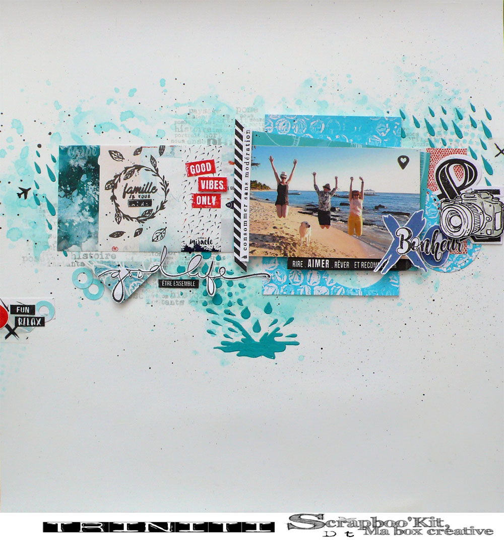 page scrapbooking good vibes only produit Scrapboo'kit