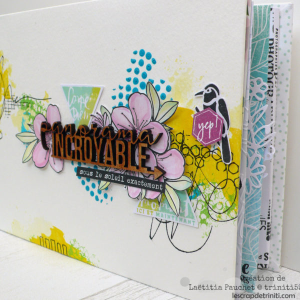 mini album sur le theme des vacances réalisé en atelier