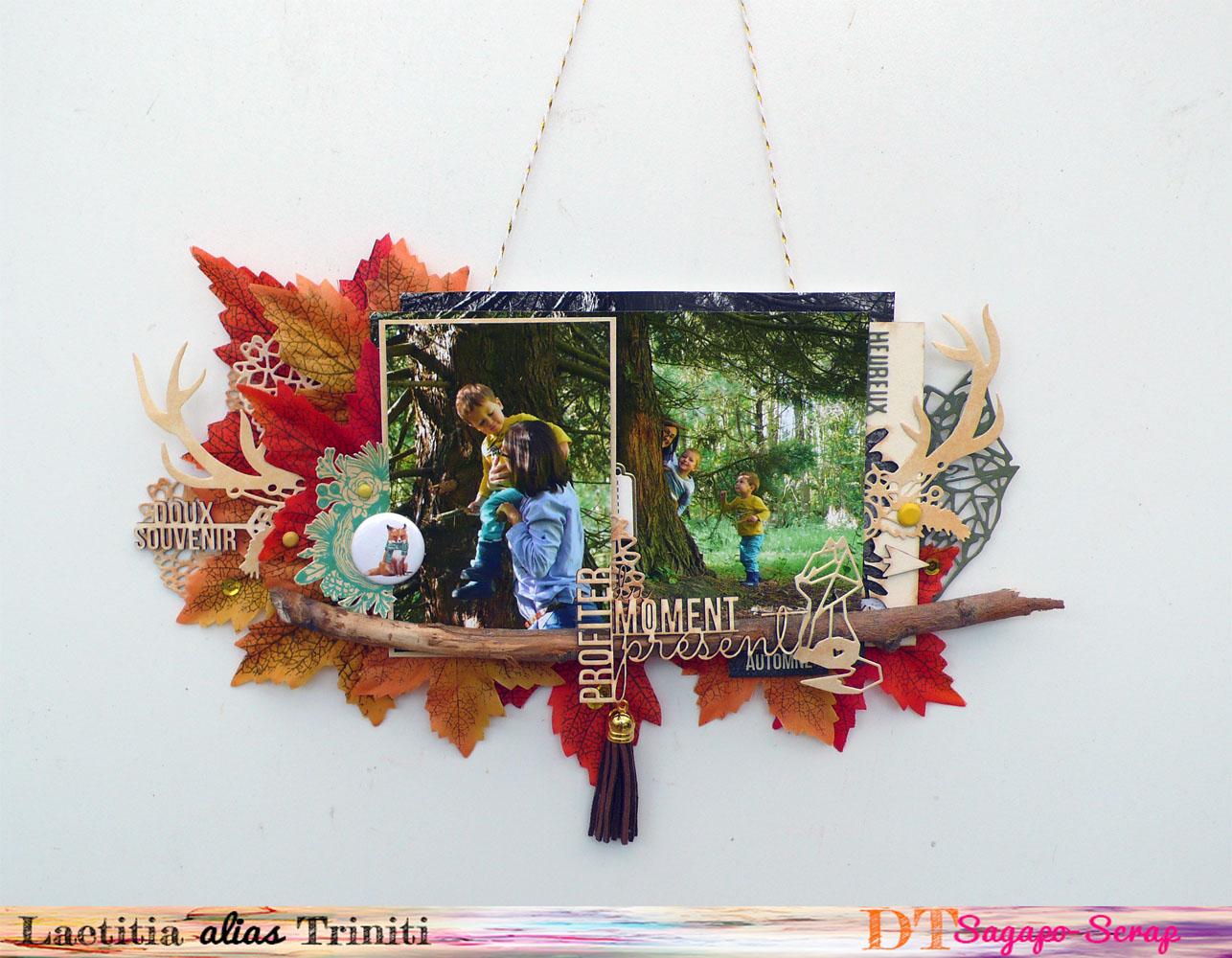 décoration automnale à accrocher avec produit Sagapo Scrap