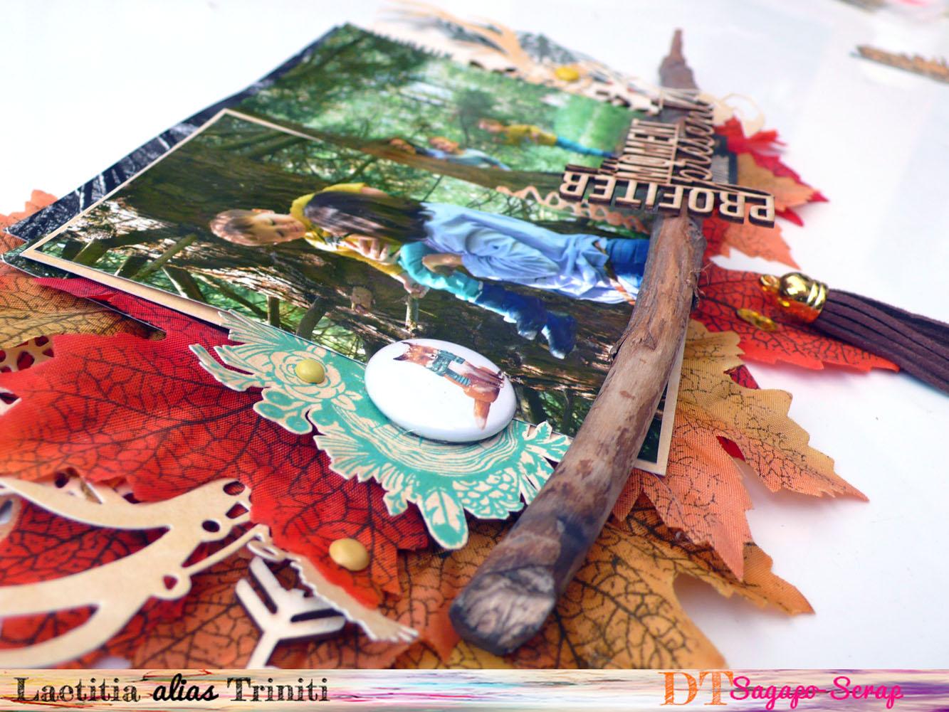 home déco automne fall thème nature avec découpe carton bois Sagapo Scrap