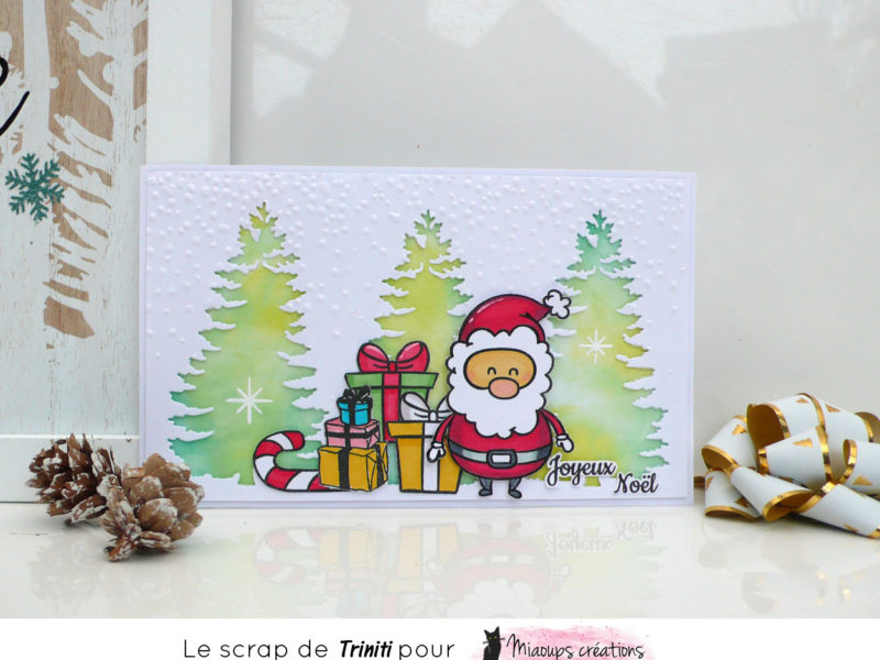 Carte Joyeux Noël pour Miaoups Créations