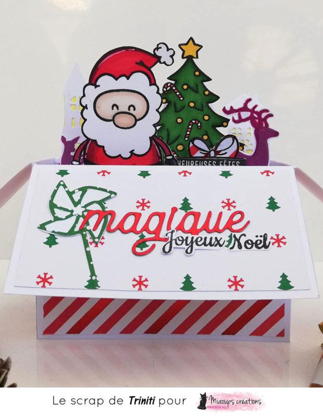 TUTO Carte 3D Magique Noël pour Miaoups Créations