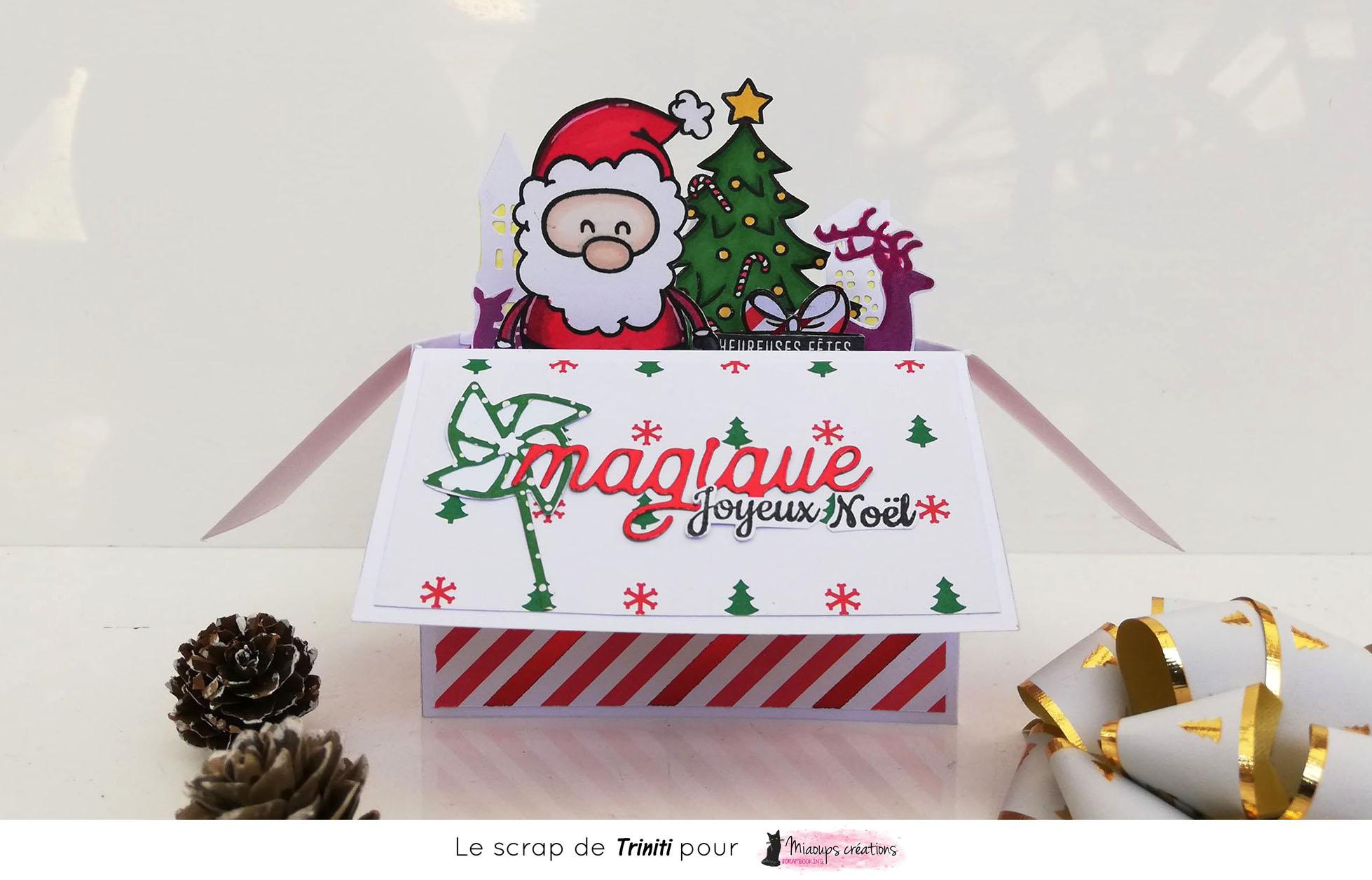 carte avec structure 3D thème Noel