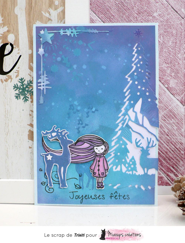 carte de voeux joyeuses fêtes avec les produits Miaoups créations
