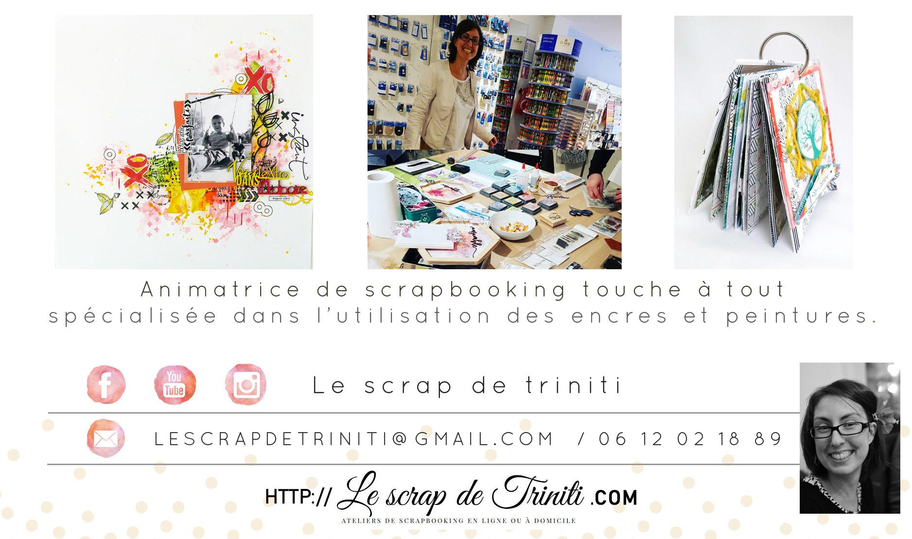 Animatrice de scrapbooking Ardèche