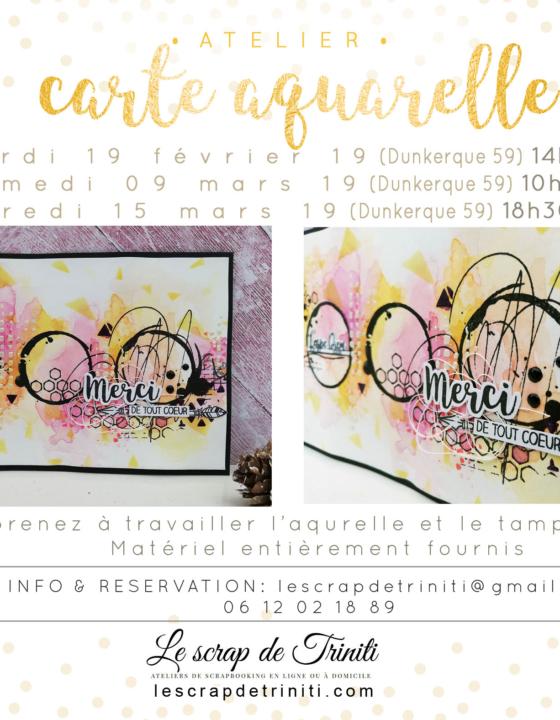 Atelier «Carte aquarelle» à Dunkerque (59)