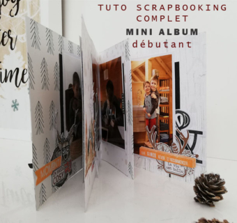 Reliure dos à dos, mini album cocooning TUTO VIDEO