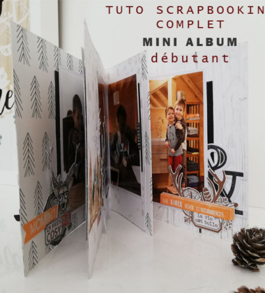Mini album cocooning TUTO VIDEO pour Scrapboo'kit, ma box créative