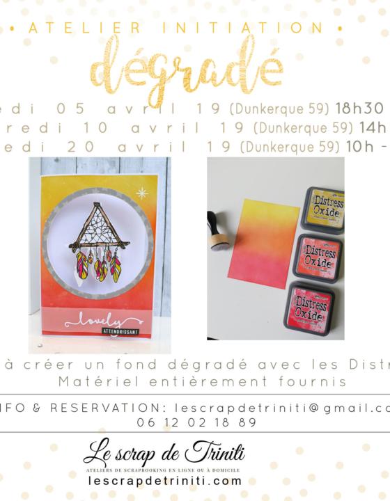 Atelier initiation «fond dégradé» à Dunkerque (59)