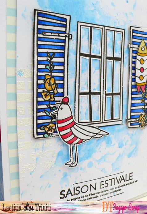 détail de carte fenêtre marine