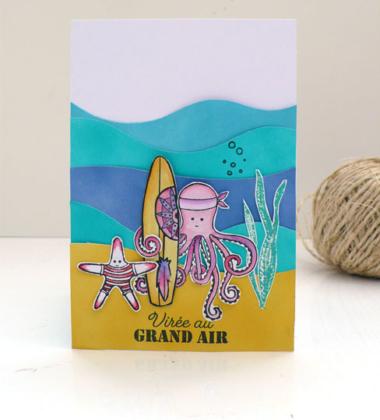 Cartes thème marin pour Sagapo Scrap