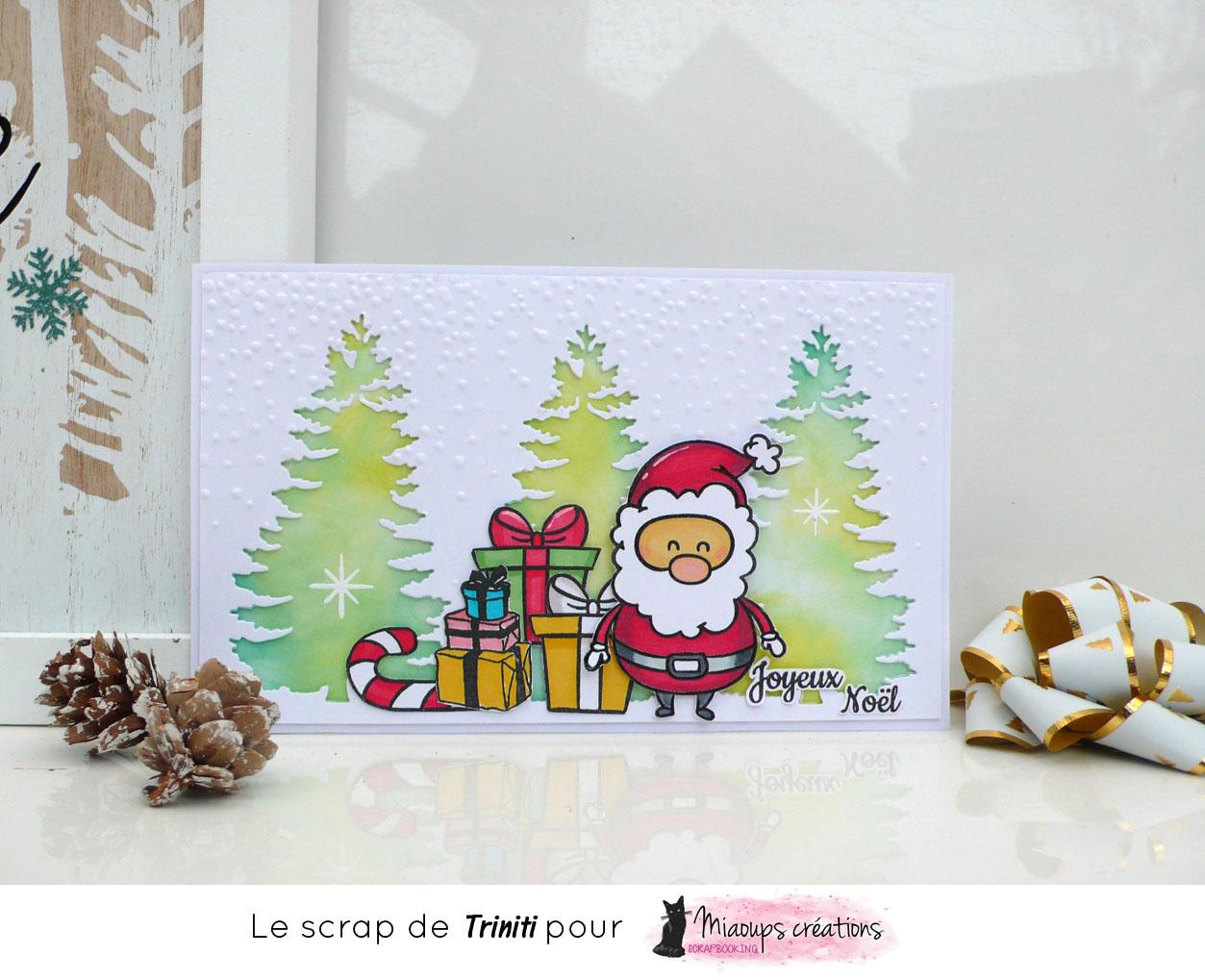 Audacieux Carte Joyeux Noël pour Miaoups Créations | Le scrap de Triniti EN-56