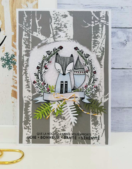 Carte renard – DT Sagapo Scrap concours carterie